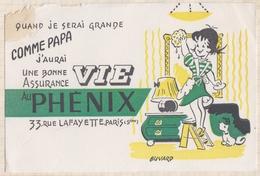 727  BUVARD ASSURANCE VIE PHENIX PARIS TACHE - Banque & Assurance