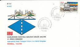 Turkey FDC 13-6-1988 International Road Transport Union 21st World Congress With Cachet - FDC