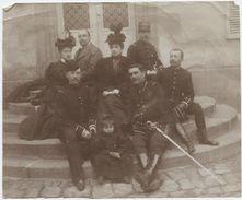 Photo, Militaria,Argentan,Orne,colonel Henri Picquet Damesme,Marie-thérése Picquet,Lieutenant Rozier,Niessel,, Vers 1890 - Personalidades Famosas