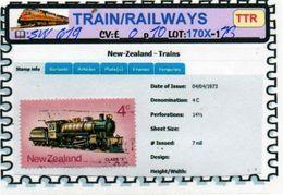 THEMATICS:TOPICS# NEW ZEALAND#OLD TRAINS#STEAM LOCOMOTIVE#:SW619 (TTR-170X) (13) - Trenes