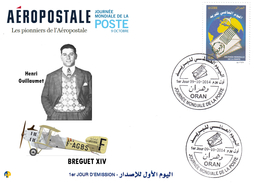 Algeria 1697 - 9 October World Post Day Aviation Plane Pioneers Of The Airmail Aeropostale Transports Henri Guillaumet - Avions