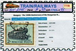 THEMATICS:TOPICS# HUNGARY#OLD TRAINS#STEAM LOCOMOTIVE#:SW2445 (TTR-170X) (15) - Trenes