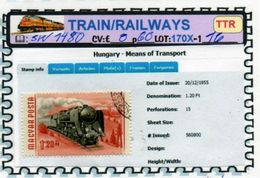 THEMATICS:TOPICS# HUNGARY#OLD TRAINS#STEAM LOCOMOTIVE#:SW1480 (TTR-170X) (16) - Trenes