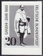 GERMANY (1969) Gandhi*.  Photo Essay Of Unaccepted Design For Centennial Of Birth.  Scott No 1012, Yvert No 468. - Mahatma Gandhi