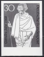 GERMANY (1969) Gandhi With Long Staff*.  Photo Essay Of Unaccepted Design For Centennial Of Birth.  Scott No 1012, Yvert - Mahatma Gandhi