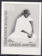 GERMANY (1969) Gandhi Meditating*.  Photo Essay Of Unaccepted Design For Centennial Of Birth.  Scott No 1012, Yvert No 4 - Mahatma Gandhi