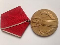 Medalla 25 Aniversario De La Victoria De La Revolucion Socialista. Bulgaria Comunista. 1944-1969. Ejército Búlgaro - Medallas Y Condecoraciones