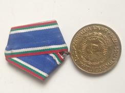 Medalla 30 Aniversario Del Ejército Búlgaro. Bulgaria Comunista. 1944-1974. Ejército Búlgaro - Medallas Y Condecoraciones