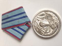 Medalla 2 Clase Años De Servicio En Fuerzas Armadas Del Ejército Búlgaro. Bulgaria Comunista. Años ´70. Ejército Búlgaro - Medallas Y Condecoraciones