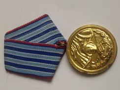 Medalla 1 Clase Años De Servicio En Fuerzas Armadas Del Ejército Búlgaro. Bulgaria Comunista. Años ´70. Ejército Búlgaro - Medallas Y Condecoraciones