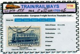 THEMATICS:TOPICS# CSSR#OLD TRAINS#ELECTRIC LOCOMOTIVE#:AFA838 (TTR-170X-2) (06) - Trenes