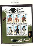 St Kitts, 1987, Mini Sheet Uniforms, MNH - St.Kitts And Nevis ( 1983-...)