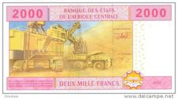CENTRAL AFRICAN STATES P. 408A 2000 F 2002 UNC - Gabon