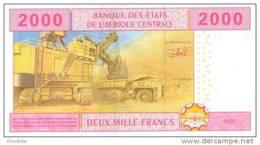 CENTRAL AFRICAN STATES P. 408A 2000 F 2002 UNC - Gabun