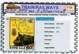 THEMATICS:TOPICS#DPR KOREA#OLD TRAINS#STEAM LOCOMOTIVE#:SW3017 (TTR-170X-2) (08) - Trenes