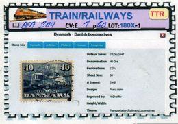 THEMATICS:TOPICS#DENMARK#TRAINS#DIESELLOCOMOTIVE#:AFA304 (TTR-180X-1) (01) - Trenes