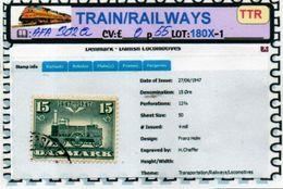 THEMATICS:TOPICS#DENMARK#TRAINS#STEAM LOCOMOTIVE#:AFA302a (TTR-180X-1) (02) - Trenes