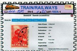 THEMATICS:TOPICS#DENMARK#TRAINS#STEAM LOCOMOTIVE#:AFA303 (TTR-180X-1) (03) - Trenes