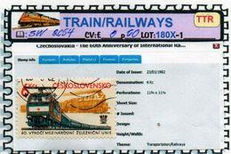 THEMATICS:TOPICS#CSSR#TRAINS# DIESEL LOCOMOTIVE#:SW2654 (TTR-180X-1) (07) - Trenes