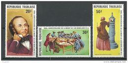 "Togo YT 951 à 953 "" R. Hill "" 1979 Neuf** - Togo (1960-...)"