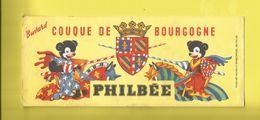 Buvard  COUQUE DE BOURGOGNE PHILBÉE Pain D'Épice Avec 2 Oursons En Chevaliers Soutenant écusson De Bourgogne - Pain D'épices