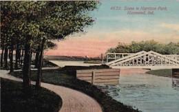 Indiana Hammond Scene In Harrison Park 1913 - Hammond