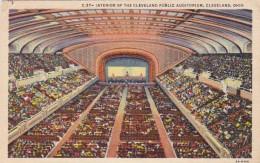 Ohio Cleveland Interior Of The Public Auditorium 1950 - Cleveland