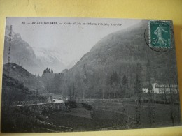 B10 3406 - 09 AX LES THERMES - VALLEE D'ORLU ET CHATEAU D'ORGEIX, A DROITE - Ax Les Thermes