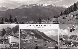 Switzerland La Creusaz Multi View 1958 Photo - VS Valais