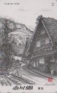Télécarte Japon / 110-015 - Série Photo Noir & Blanc AKIRA SATO - Typical Street Black & White Japan Phonecard - 27 - Paysages