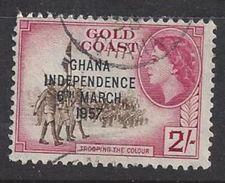 Ghana 1957 Queen Elizabeth 2/- (o) - Ghana (1957-...)