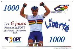 Nouvelle Caledonie Caledonia Telecarte Liberte 1000 F Ut. Velo Cyclisme  Sport 2003, Us Courant - Nueva Caledonia