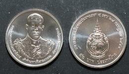 Thailand Coin 50 Baht 2012 60 Years 5th Cycle Birthday Crown Prince - Thailand