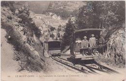 63,le Mont-dore,funiculaire Du Capucin ,massif  Sancy,transport En Commun Sur Rails,traction Cable,entourée Volcan,rare - Le Mont Dore