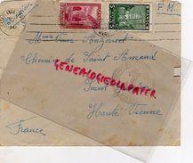 87 - SAINT JUNIEN- ENVELOPPE MAROC CASABLANCA 1941-MME VEUVE AUZANET CHEMIN DE SAINT AMAND- FRANCHISE MILITAIRE VERGNAUD - Morocco (1956-...)