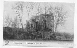 (RECTO / VERSO) DIXMONT - A L' ENFOURCHURE LES RUINES ET LA FERME - CPA VOYAGEE - Dixmont