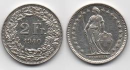 + SUISSE +  2 FRANCS 1940  + - Suisse