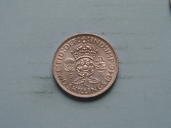 1946 - Two Shillings / KM 855 ( Uncleaned - For Grade, Please See Photo ) ! - J. 1 Florin / 2 Shillings
