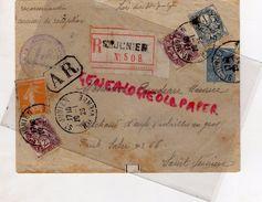 87 - SAINT JUNIEN- ENVELOPPE MAURICE ROUDEAU-MARCHAND OEUFS ET VOLAILLES-66 FG SALER-CACHET ROCHECHOUART 1923- A R - Francia