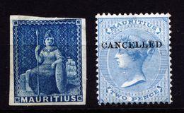 A4753) UK Mauritius 2 Old Stamps Unused (*) - Mauritius (...-1967)