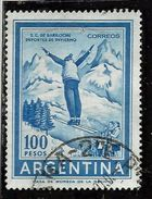 ARGENTINA 1969 1970 Ski Jumper SALTATORE CON GLI SCI 100p USATO USED OBLITERE' - Argentina