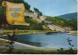 57 Plan Incliné De St Louis Arzviller Moselle Canal De La Marne Au Rhin Péniche En Attente à Quai - Houseboats