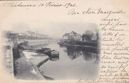 25----BESANCON--les Quais Vus Du Pont De Canot--( Péniche )--voir 2 Scans - Besancon