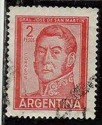 ARGENTINA 1959 1970 1961 JOSE DE SAN MARTIN 2p USATO USED OBLITERE' - Argentina