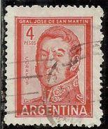 ARGENTINA 1959 1970 1962 JOSE DE SAN MARTIN 4p USATO USED OBLITERE' - Argentina