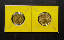 Thailand Coin 1977 1980 25-50 Satang (Rice Stalks) Y109 Y168 - Bronze UNC - Thaïlande