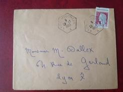 Cachet Hexagonal 69 LYON MOUCHE A - Storia Postale