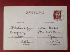 Cachet Perlé 71 MALTAT Sur Entier - Marcophilie (Lettres)