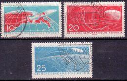 DDR 1961, Mi.Nr. 822-824, 1. Bemannter Weltraumflug, Gestempelt (620) - Used Stamps