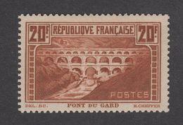 France - Pont Du Gard N°262 Type IIB ** Neuf Sans Charnière - Côte Yvert : 550 Euros -1929 - TB - France